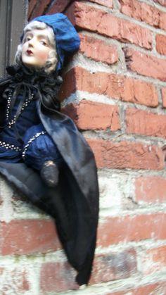 Anita Flapper Composition Cloth Antique Boudoir Bed Doll | eBay
