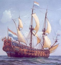 """De Zeven Provinciën"", or 'the seven provinces' - Flagship of Michiel de Ruyter"