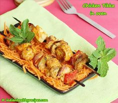 chicken tikka recipe - Learn to make the best grilled Indian chicken tikka in oven or grill from scratch with step by step instructions.