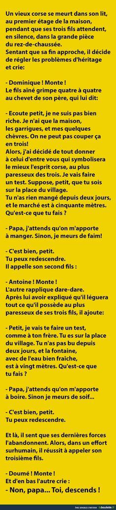 Petite histoire corse du matin... | LABOULETTE.fr - Les meilleures images du net!