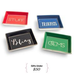 Trinket Trays | Affordable Holiday Gifts: 50 Presents Under $50: Glamour.com