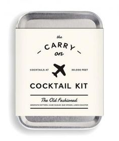 If your groomsman is travelling from out of town, consider sending this gift ahead of time. His in-flight whiskey will be significantly tastier with everything he needs to mix an old-fashioned (pure cane sugar, small batch bitters, a recipe, and a mini bar spoon/muddler) from his carry-on at 30,000 feet. No matter where he's sitting, he'll out-class even First Class.