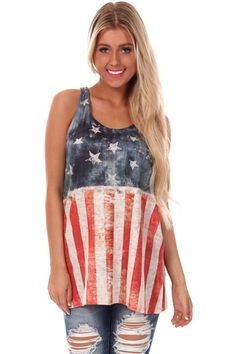 e0f5323b342 Distressed Stars and Stripes Racerback Tank. Shorts With Tights