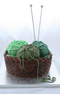 Knitting Basket Cake | 25 Craft-Inspired Desserts That Are (Almost) Too Cute ToEat