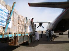 Bridge Foundation cargo Nyala Airport, South Darfur 2009