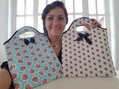 Tutorial, DIY, Passo à Passo Bolsa Sacola de Tecido 2. http://www.vivartesanato.com.br/2016/10/tutorial-diy-passo-a-passo-bolsa-sacola-de-tecido-2.html