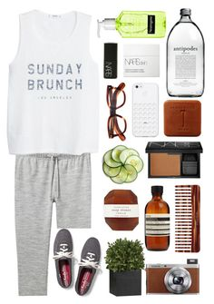 """~Sunday Brunch~"" by oliviajob ❤ liked on Polyvore featuring Pelle, Mason Pearson, Aesop, Crate and Barrel, NARS Cosmetics, A.P.C., Fuji, MANGO, Cutler and Gross and Keds"