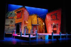 "Scenic Design for ""Scapino!"" by Eric Luchen at Purdue University"