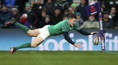 Jacob Stockdale (Ire) - first player to score 7 tries in a single 6 nations tournament Irish Rugby, Rugby Men, Scores, Wall