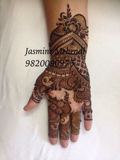 Henna bits n ideas Arabic Bridal Mehndi Designs, Modern Mehndi Designs, Mehndi Design Photos, Mehndi Designs For Fingers, Beautiful Mehndi Design, Mehndi Images, Henna Tattoo Hand, Henna Tattoo Designs Arm, Henna Ink