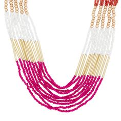 2. Matching accessories - from Spring! Love the colours in this necklace. (source: www.myspringshoes.com) #PassportToFashion @Mapleview Centre