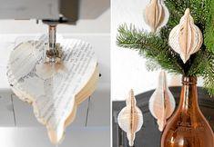 Woodland Christmas, Christmas Mood, Rustic Christmas, Paper Decorations, Christmas Tree Decorations, Christmas Ornaments, Origami, Christmas Inspiration, Christmas Projects