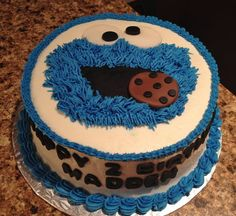 Cookie Monster! birthday cake