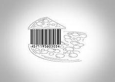 Barcode Art, Barcode Design, Logo Design, Graphic Design, Linear Art, Pizza Art, Pencil Painting, Pulp Art, Cool Bars
