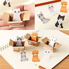 Lovely Carton Cats House It Post It Bookmark Mini Sticky Notes School SuppliesLO