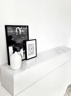 Mramor na skříňkách IKEA BESTA / Marble top on IKEA BESTA furniture