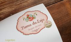 Combo de Logotipo e Identidade Visual: Renda Vintage  *Veja outros em nosso site clicando aqui: http://www.ateliefloradg.com.br/