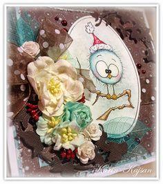 Kajsansscrapblog:.: Tarjeta de Navidad con noticias en varias formas:.