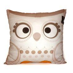 "Deluxe Pillow, Owl Pillow, Snow Owl, Woodland Animal, Cushion, Owl Decor, Room Decor, Baby Bedroom, Animal Nursery, 16 x 16"""
