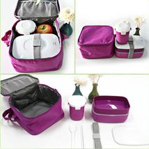 Japanese Bento Lunch w/Water SoupBox Insulated Lunch Tote Bag Food Container
