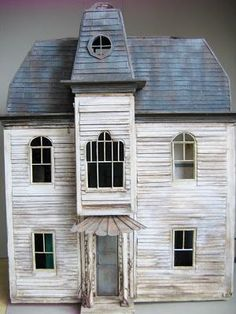Miniature rustic French dollhouse