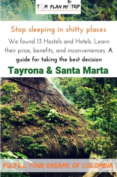 You don't have to stay in Santa Marta if you plan to explore the park the next day. We give you the best hostels and hotels nearby Tayrona. Colombia Destinations, Colombia Travel, Travel Destinations, Beautiful Places To Travel, Best Places To Travel, Tayrona National Park, Plan My Trip, Best Travel Guides, Santa Marta