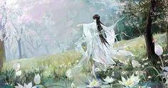 Modern Ink Portrait Arts of Chinese Paintings - Design Hey Chinese Artwork, Chinese Painting, Fanart, China Art, Background Banner, Ancient Art, Portrait Art, Female Art, Fantasy Art