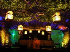 Wedding, Green, Decor, Purple, Uplight