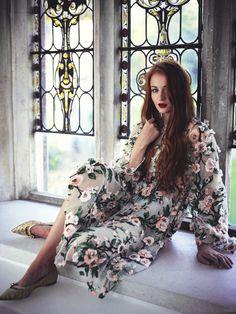 Sophie Turner in Dolce & Gabbana  photographed by James Meakin for Tatler UK, April 2014.