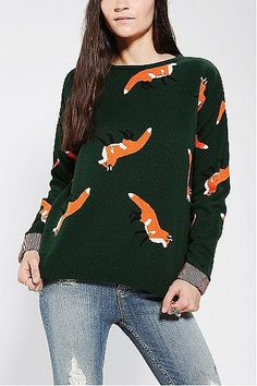 Animal Sweaters. The Orphans Arms Fox Sweater