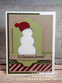Snow Place Stampin' Up! Diana Gibbs Janet Baker Susan Adams case - SU - Christmas, winter - Washi Tape
