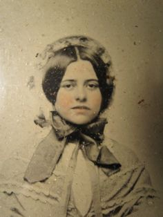 Antique Victorian American Beauty Young Pink Girl Ambrotype Bonnet Fashion Photo | eBay