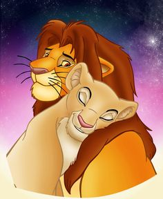 Nala & Simba my favorite celebrity couple when I was little :)