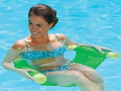 Pool noodle chair. WHERE CAN I GET THIS? A raft I won't fall off of when I try to get on.