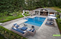 With a couple design guidelines, you can produce your pool the ideal hideaway. A pool can be constructed in virtually any size yard. A huge swimming pool sits at the conclusion of the backyard garden.