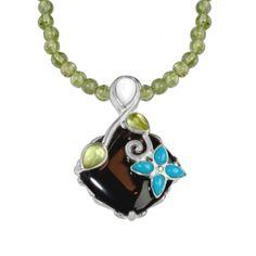 Basket of Joy Pendant on Peridot Necklace