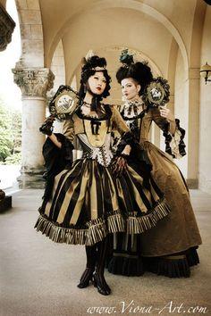 Vecona design. I love that striped skirt with fringes...