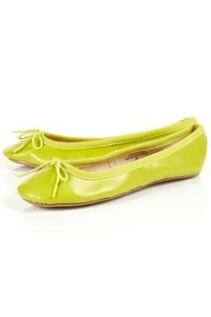 VIBRANT Yellow Ballet Pumps - StyleSays
