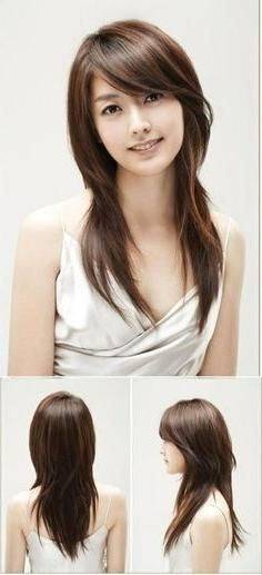 Explore Gallery Of Japanese Long Hairstyles 5 Of 15 Layered Haircuts With Bangs Long Layered Haircuts Long Hair Girl