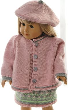 18 inch doll dress knitting pattern - Lovely summer clothes for happy, bright summer-days