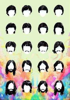 "Beatles evolution      ""Everybody had a good year, everybody let their hair down…""A Beatles Hairography."