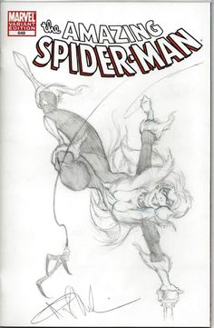 Amazing Spiderman 648 Sketch Cover by Angel Medina (Black Cat) Comic Art