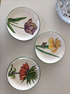 Pottery Painting Designs, Pottery Designs, Plate Wall Decor, Plates On Wall, China Plates, Plates And Bowls, Mural Painting, Ceramic Painting, Painted Plates