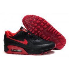 Nike Air Max 90 Hyperfuse Premium Rouge Noir Pas Cher Chaussures De Course  Soldes-20