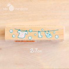 Sello Madera Tendal 2x7cm - Mia mandarina