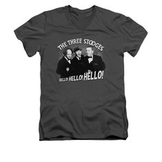 The Three Stooges - Hello Again Adult V-Neck T-Shirt