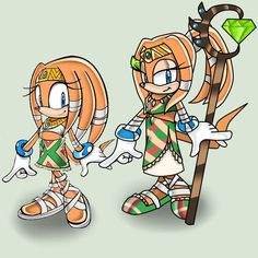 little Tikal and older Tikal by on DeviantArt