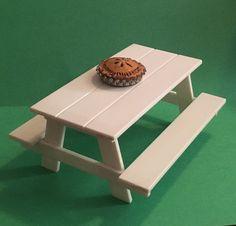 Dollhouse Miniature Picnic Table
