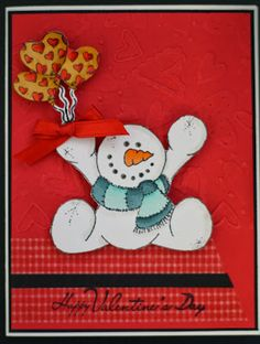A cute Valentine's Day card using a snowman