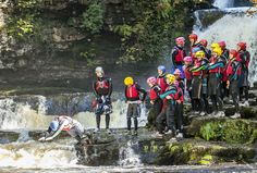 Canyoning in the Brecon Beacons with Adventure Britain is one of the best stag party activities in the UK